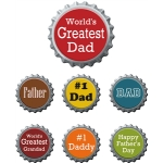 father's day bottle caps words- phrases