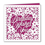 birthday wishes floral card