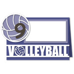 volleyball tent card with numbers