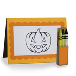4 in x 5.5 in jack o'lantern coloring card and crayon box