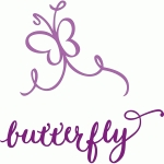 butterfly – funky calligraphic