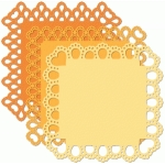 12x12 square doily eyelet edge set