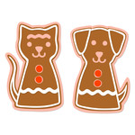 gingerbread cat and dog layered