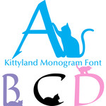 kitty land monogram font
