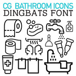cg bathroom icons dingbats