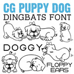 cg puppy dog dingbats
