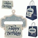 gift bag hanger with birthday card