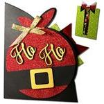 santa's bag pocket gift card holder