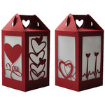 heart you valentine wedding lantern