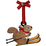 ski squirrel ornament gift tag