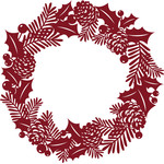 holly and pine christmas wreath