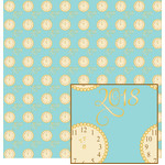new year aqua clock pattern