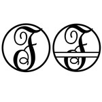 fancy monogram circle nameplate f
