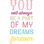 you will always be a part of my dreams