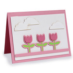 a2 tulip clouds folded cards