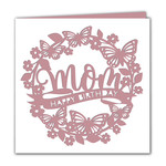 mom butterfly birthday card