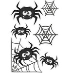 spiders and web stickers halloween