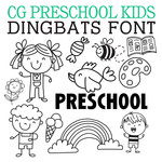 cg preschool kids dingbats