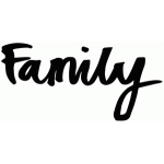 family brushed lettering