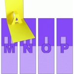 pop-up letters - m n o p