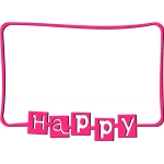 line frame - happy