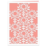 folk daisies lace card