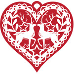 nordic heart holiday ornament