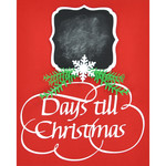days till christmas advent chalkboard reminder