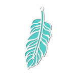 layered cutout feather tag