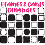 sg square frames & cards dingbats