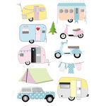 retro camper trailer stickers
