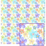 pastel flowers on white pattern
