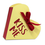kiss me open top heart box
