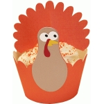 cupcake wrapper set: turkey