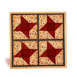 spinner stars patchwork card