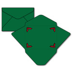 a7 envelope with holly cutout