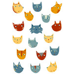 many cats stickers