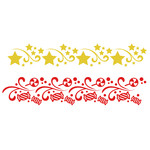christmas star flourish borders