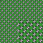 soccer ball green pattern