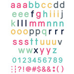 candy lowercase alphabet stickers
