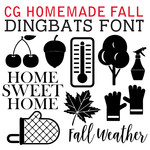 cg homemade fall dingbats