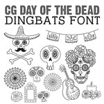 cg day of the dead dingbats
