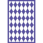 dotted harlequin stencil – background