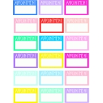 appointment box planner stickers