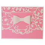 teacup flourish bow card