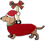 dachshund gift tag ornament