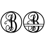 fancy monogram circle nameplate b