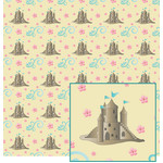 sandcastle with flowers pattern