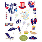 4th of july at the beach stickers