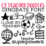 cg teacher doodles dingbats